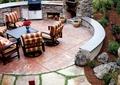 花园,庭院景观,桌椅,矮墙坐凳