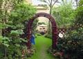 花园门,拱门,草坪,拱门花架,草坪景观