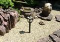 草坪灯,庭院灯,景灯,跌水小景,碎石地