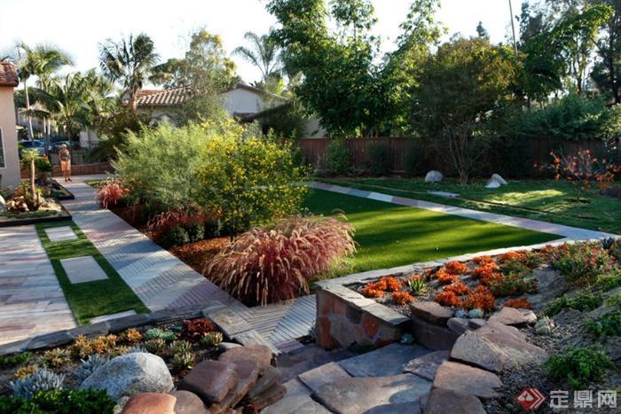 庭院,花园,庭院景观,园路铺装