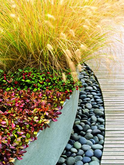 现代风格花池矮墙-白茅草图纸鹅卵石景观-v风格电压表做实景数码管图片