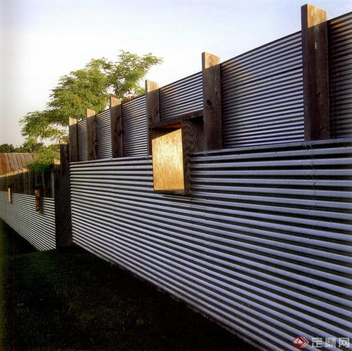 现代某庭院景观设计图-围墙壁灯-设计师图库