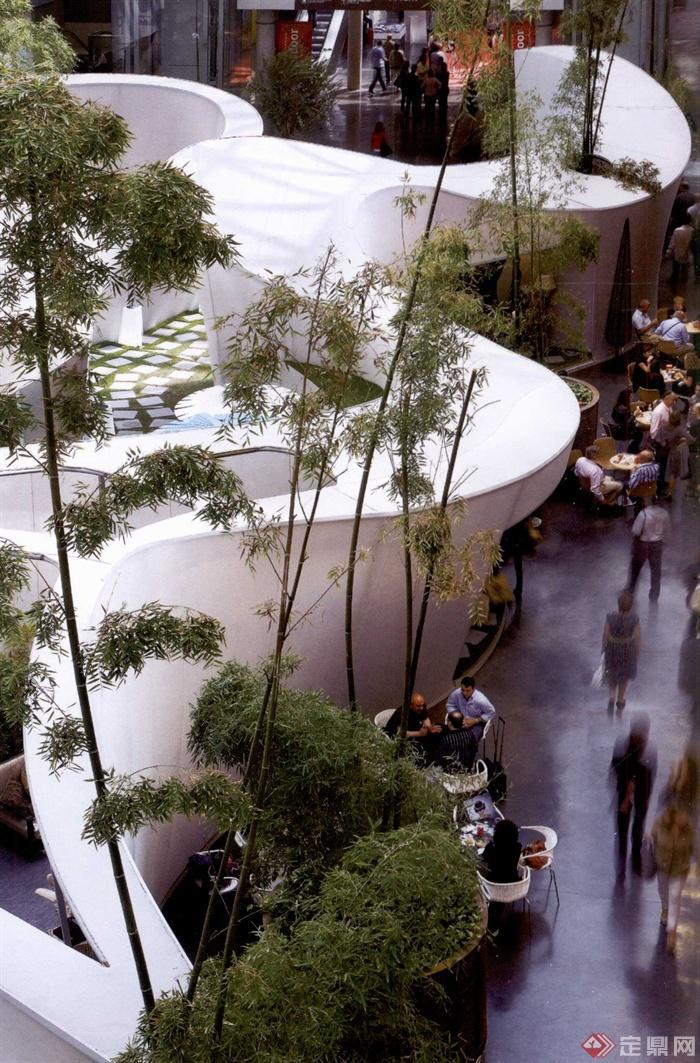 现代派景观节点设计实景图-庭院庭院景观商业街景观