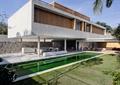 住宅建筑,集装箱式建筑,景观水池,平台,石坐凳,草坪
