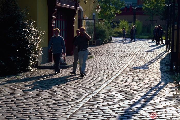 欧式风格景观实景图-地面铺装道路景观-设计师图库