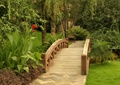 拱桥,园桥,木桥,草坪景观