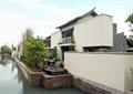 河道景观,矮墙,围墙,民居