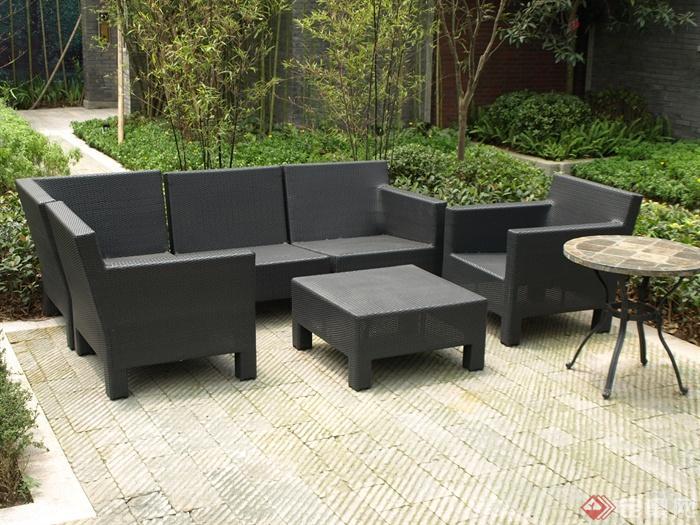 40张中式风格景观节点-沙发茶几地面铺装庭院景观-师图片