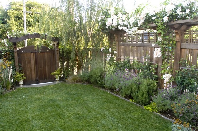 欧式风格景观节点实景图片-草坪花园门栅栏庭院-设计