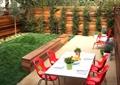 餐桌椅,围墙,植物墙,草坪,微地形草坪,坐凳