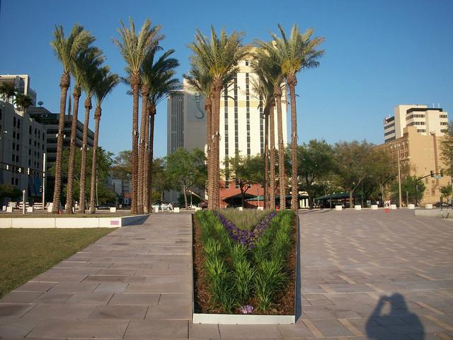 某欧式公园景观规划设计-花池观赏草地面铺装热带乔木