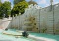 跌水景观,雕塑群,雕塑水景,喷泉水池,围墙,景墙