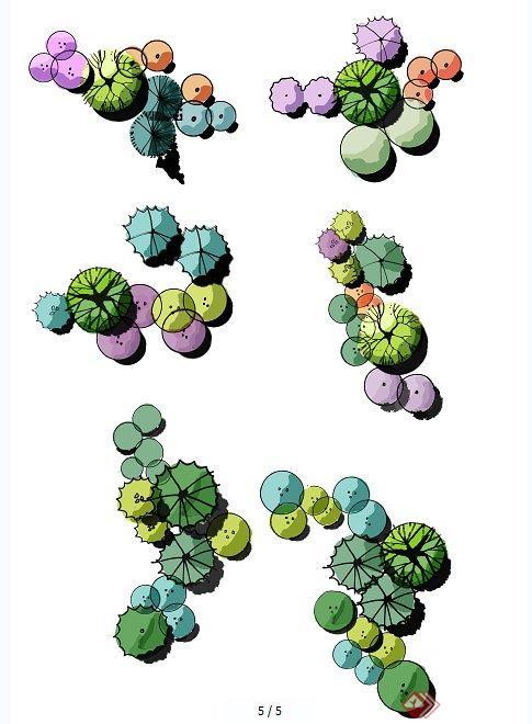 ps植物图例素材 植物图例手绘 ps平面植物素材 ps植物