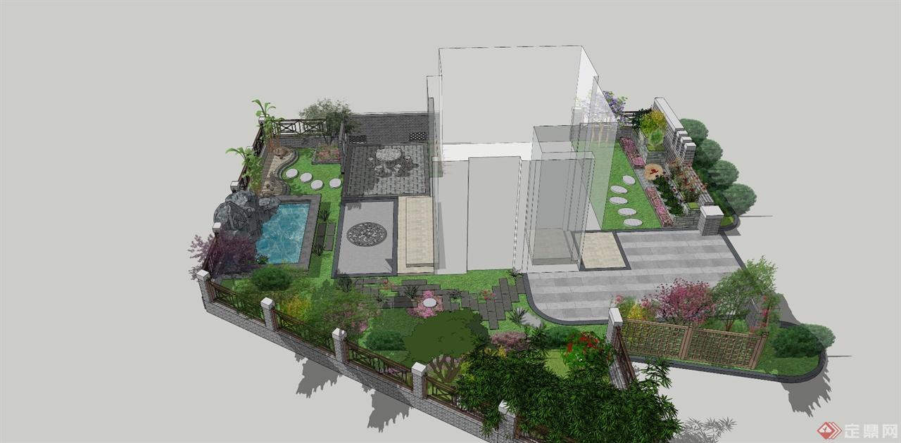 合肥别墅区庭院景观