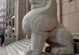 某中国古典式标准模数砖砌景墙