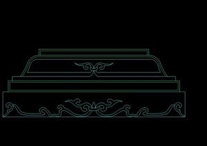 某景观柱底座设计CAD立面图1