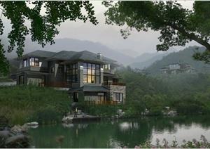 96张住宅、别墅景观设计效果图