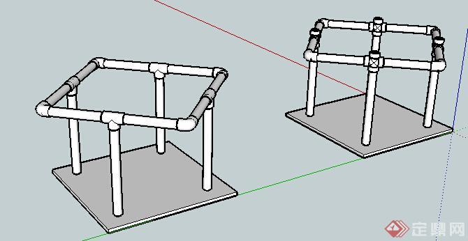 建筑水管道设计su模型(1)