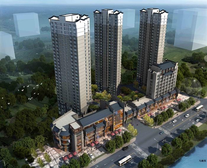某中式小区建筑规划方案设计文本(2)