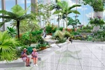 贵阳机场室内景观设计方案之办票厅右侧花园效果图