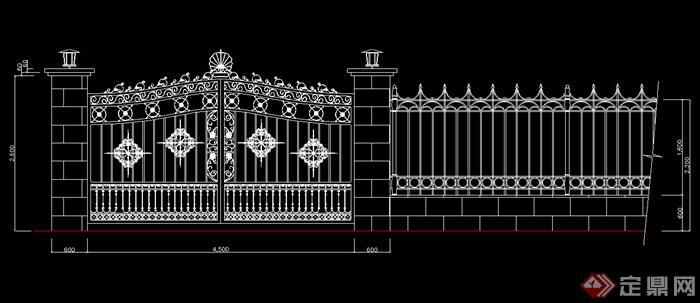 某小区铁门设计CAD图纸参考