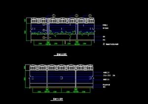 某园林小区围墙扩初图设计CAD图纸