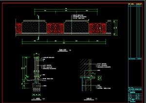某个园林小区围墙扩初图设计CAD图纸