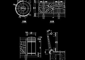 某小区铁艺围墙CAD图纸参考