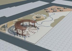 某城市古典中式工艺坊建筑设计3DMAX模型