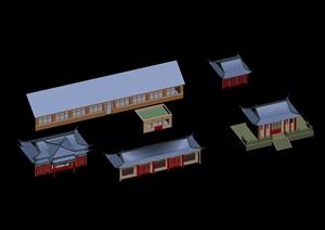 某古典中式居住建筑3DMAX模型素材