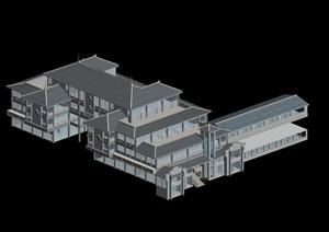 某传统中式居住建筑3D模型素材