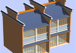 某2层传统中式居住建筑3DMAX模型