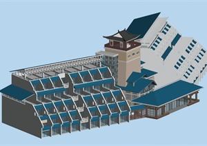 某现代传统中式居住建筑3DMAX模型