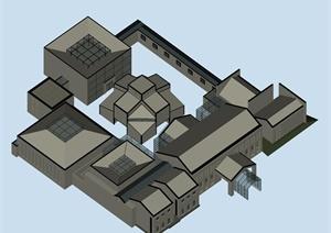 某传统中式风格居住建筑3DMAX模型