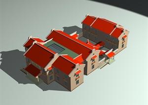 某传统中式居住建筑房3DMAX模型