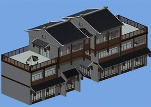 某传统中式居住建筑3DMAX模型素材