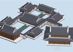 某传统中式居住建筑3DMAX模型