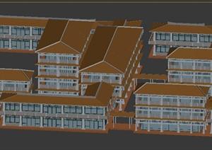 某地传统中式居住建筑3DMAX模型素材
