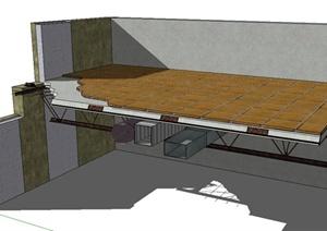某楼层层板设计SU(草图大师)模型