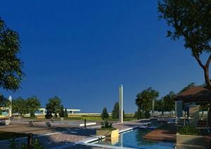 现代风格多层住宅建筑景观设计3DMAX模型