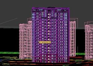 现代某小区多栋独立住宅建筑设3DMAX模型