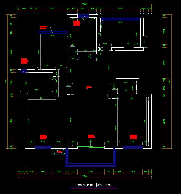 小户型室内设计CAD平面方案图(dwg格式)(2)