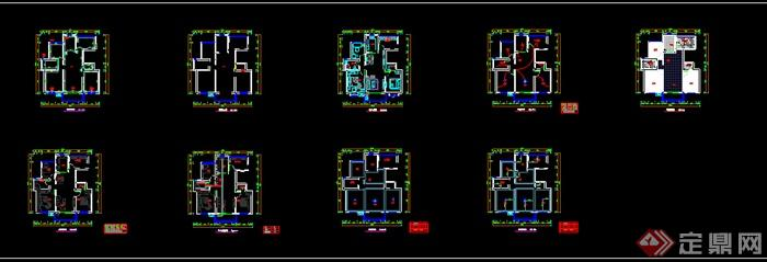 小户型室内设计CAD平面方案图(dwg格式)(4)