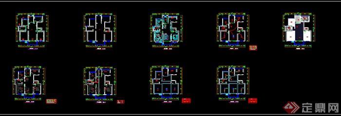 小户型室内设计CAD平面方案图(dwg格式)(5)