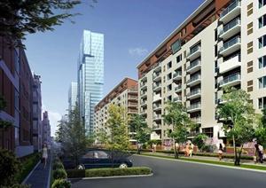 某多层居住建筑效果图PSD格式