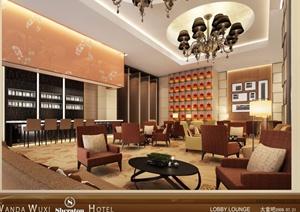 无锡万达喜来登酒店装饰效果图和实景图