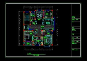 某2层别墅空间装饰CAD图纸