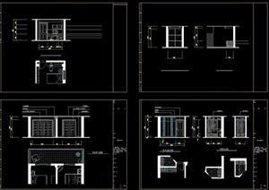 某住宅空间卧室墙体设计CAD图