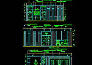 某别墅餐厅装饰设计CAD图纸