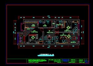 某别墅空间装饰设计CAD图纸参考